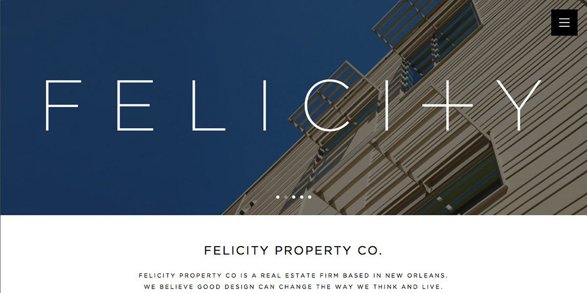 Screen capture of Felicity Property Co. website