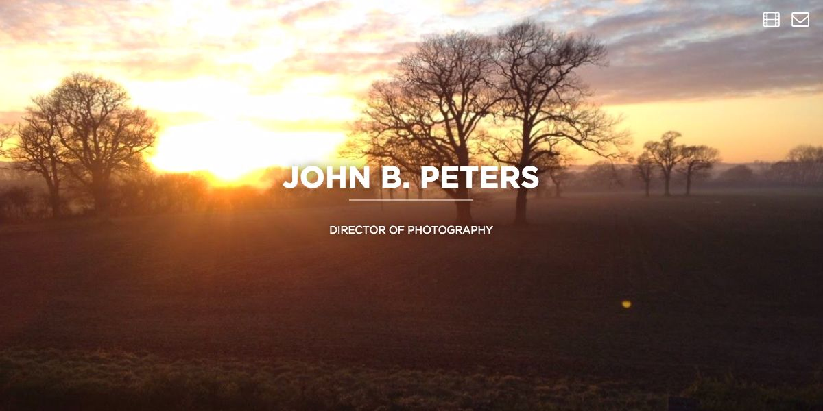 Screen capture of John Baxter Peters website