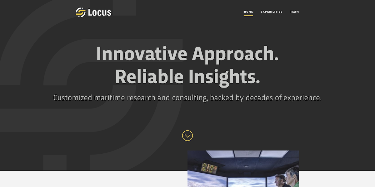 Screen capture of Locus   website
